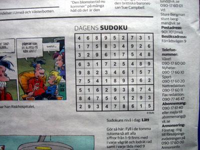 VK sudoku